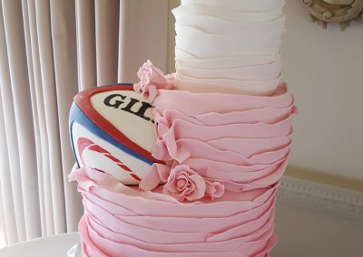 Rugby Ball Wedding Cake