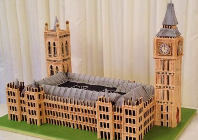 Westminster Palace. All in chocolate sponge and Pastillage.. For a Birthday Party at the House of Lords
