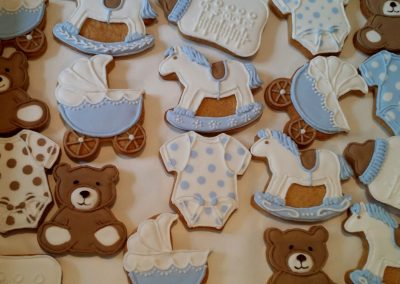 Baby Shower Biscuits (from) £3 each.